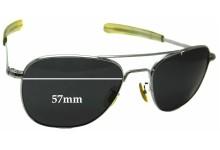 Sunglass Fix Sunglass Replacement Lenses for Randolph Engineering Aviator RE 5 1/2 - 57mm Wide