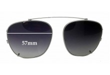 Sunglass Fix Sunglass Replacement Lenses for Randolph Engineering Clip on - 57mm Wide