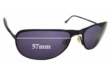 Sunglass Fix Sunglass Replacement Lenses for  Randolph Engineering Raptor - 57mm Wide