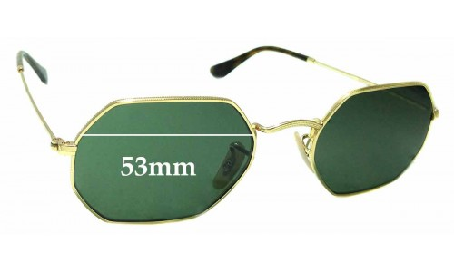 Sunglass Fix Sunglass Replacement Lenses for Ray Ban RB3556-N - 53mm Wide