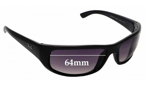 Sunglass Fix Sunglass Replacement Lenses for Ray Ban RB4283-CH - 64mm wide