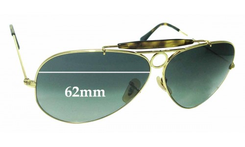 Sunglass Fix Sunglass Replacement Lenses for Ray Ban Aviator RB3138 Shooter - 62mm wide
