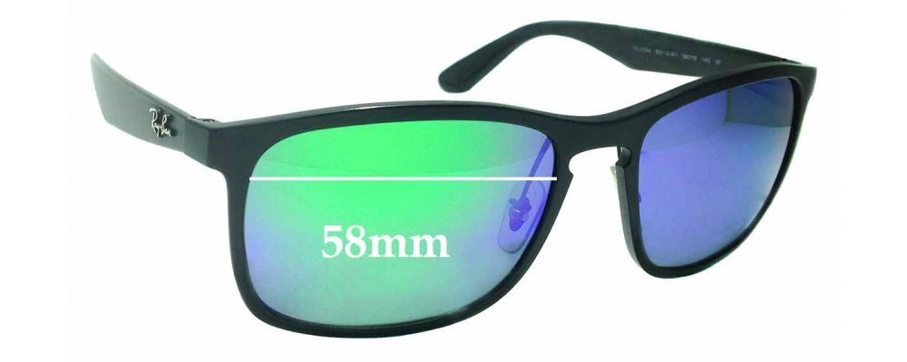 9ad3231abff Sunglass Fix Sunglass Replacement Lenses for Ray Ban RB4264 Chromance - 58mm  wide