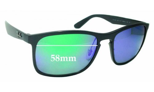 Sunglass Fix Sunglass Replacement Lenses for Ray Ban RB4264 Chromance - 58mm wide