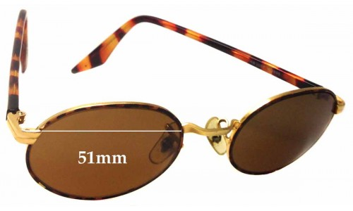 Sunglass Fix Sunglass Replacement Lenses for Ray Ban B&L RB3007 - 51mm wide