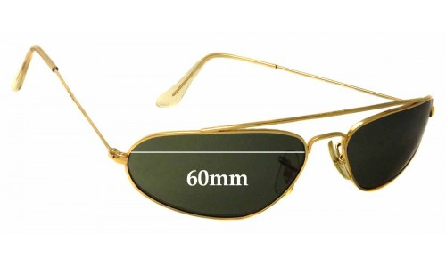 Sunglass Fix Sunglass Replacement Lenses for Ray Ban B&L W1958 Fugitives - 60mm Wide