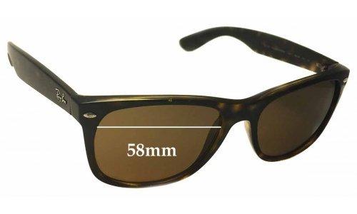Sunglass Fix Sunglass Replacement Lenses for Ray Ban RB2132 New Wayfarer 58mm wide x 43mm high