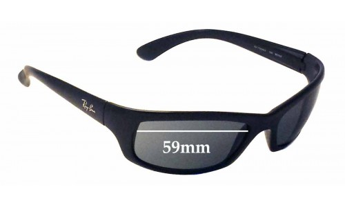 Sunglass Fix Sunglass Replacement Lenses for Ray Ban RAJ1554AA RC002 - 59mm wide *Please measure your lens as size is not indicated on frames*