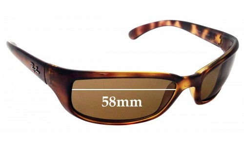 Sunglass Fix Sunglass Replacement Lenses for Ray Ban RAJ1554AA RC007 - 58mm Wide *Please measure your lens as size is not indicated on frames*