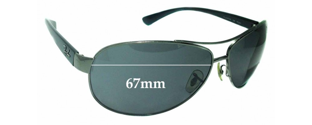 Sunglass Fix Sunglass Replacement Lenses for Ray Ban RAJ2157AD RC001 - 67mm Wide