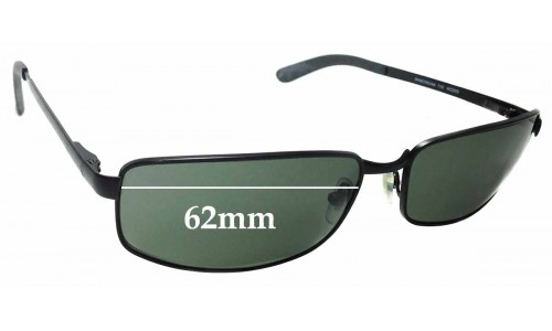 Sunglass Fix Sunglass Replacement Lenses for Ray Ban RAM2062AA RC005 - 62mm Wide
