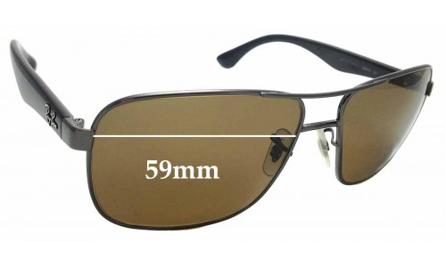 Sunglass Fix Sunglass Replacement Lenses for Ray Ban RB3515 - 59mm Wide