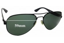 Sunglass Fix Sunglass Replacement Lenses for Ray Ban RB3523 - 59mm Wide