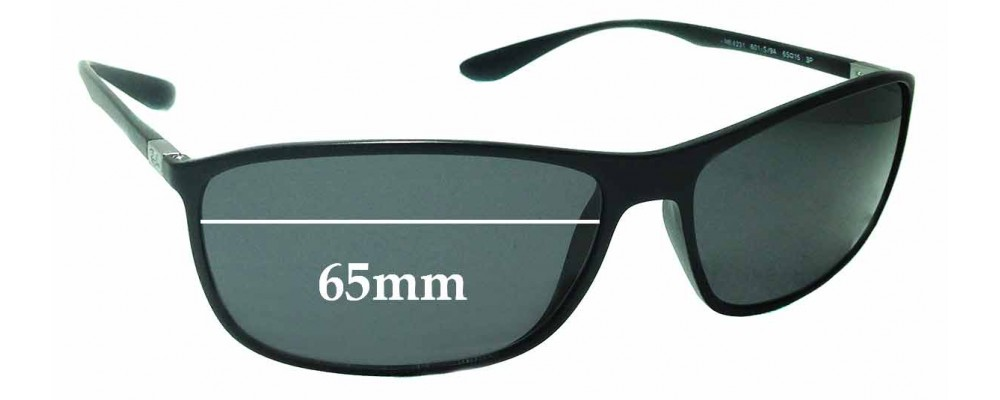 Sunglass Fix Sunglass Replacement Lenses for Ray Ban RB4231 - 65mm Wide