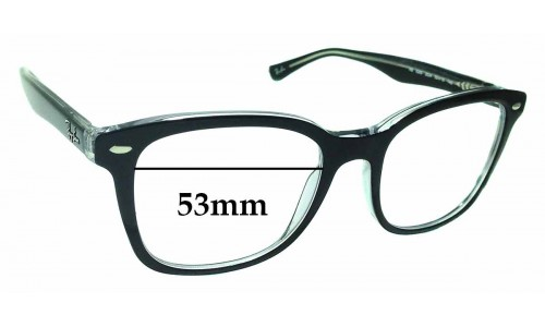 Sunglass Fix Sunglass Replacement Lenses for Ray Ban RB5285 - 53mm wide