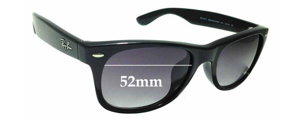 Sunglass Fix Sunglass Replacement Lenses for Ray Ban New Wayfarer RB2132-F - 52mm Wide