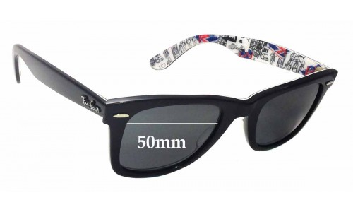 Sunglass Fix Sunglass Replacement Lenses for Ray Ban Wayfarer RB2140 Special Series 8 1114 London - 50mm Wide