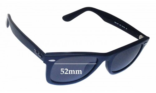 Sunglass Fix Sunglass Replacement Lenses for Ray Ban RB2140F Wayfarer 52mm wide lenses
