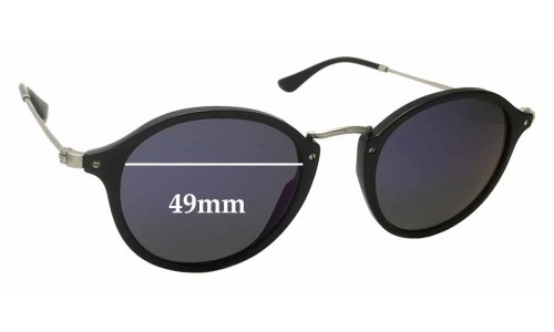 Sunglass Fix Sunglass Replacement Lenses for Ray Ban RB2447 - 49mm Wide
