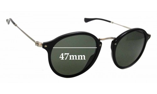 Sunglass Fix Sunglass Replacement Lenses for Ray Ban RB2447-V - 47mm Wide
