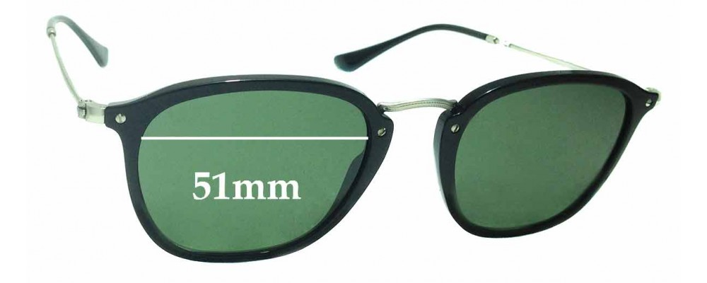 Sunglass Fix Sunglass Replacement Lenses for Ray Ban RB2448-N - 51mm Wide