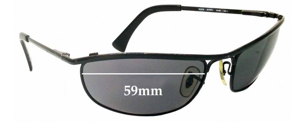 Sunglass Fix Sunglass Replacement Lenses for Ray Ban RB3119 - 59mm Wide