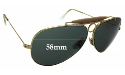 Sunglass Fix Sunglass Replacement Lenses for Ray Ban Aviator RB3138 Shooter - 58mm Wide
