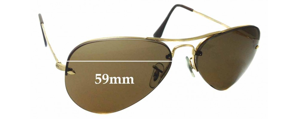 Sunglass Fix Sunglass Replacement Lenses for Ray Ban RB3214 - 59mm Wide