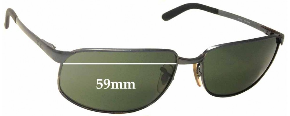 Sunglass Fix Sunglass Replacement Lenses for Ray Ban RB3221 - 59mm Wide