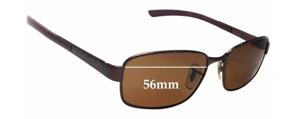 Sunglass Fix Sunglass Replacement Lenses for Ray Ban RB3413 - 56mm Wide