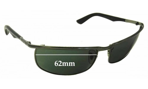Sunglass Fix Sunglass Replacement Lenses for Ray Ban RB3459 - 62mm wide