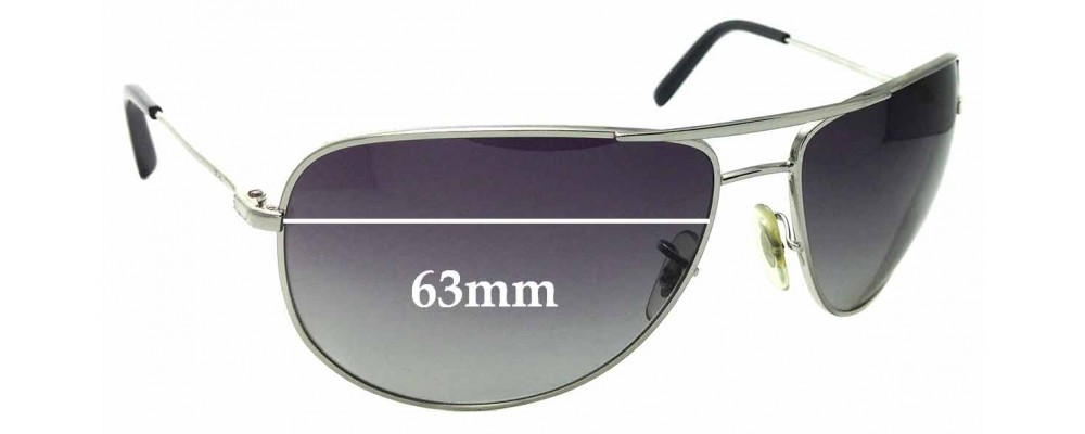Sunglass Fix Sunglass Replacement Lenses for Ray Ban RB3468-E - 63mm Wide