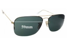 Sunglass Fix Sunglass Replacement Lenses for Ray Ban RB3482 Flipout - 59mm Wide