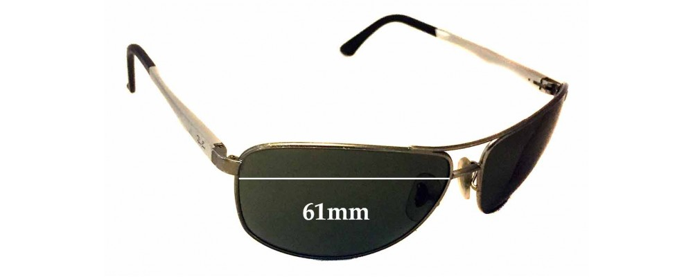 17400607ccf58 Sunglass Fix Sunglass Replacement Lenses for Ray Ban RB3506 - 61mm Wide
