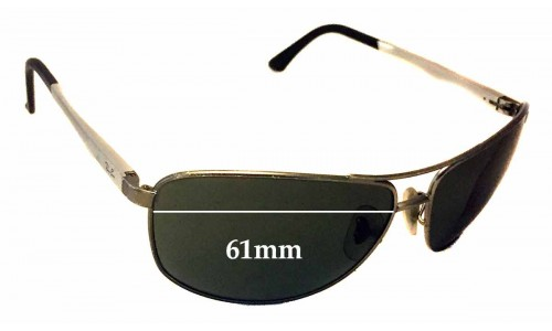Sunglass Fix Sunglass Replacement Lenses for Ray Ban RB3506 - 61mm Wide