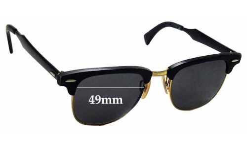 Sunglass Fix Sunglass Replacement Lenses for Ray Ban RB3507 Clubmaster - 49mm wide
