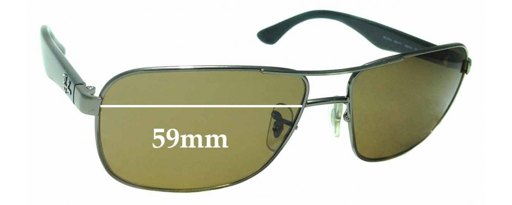 Sunglass Fix Sunglass Replacement Lenses for Ray Ban RB3516 - 59mm Wide