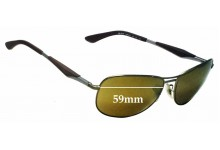 Sunglass Fix Sunglass Replacement Lenses for Ray Ban RB3519 - 59mm Wide