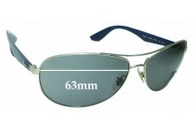 Sunglass Fix Sunglass Replacement Lenses for Ray Ban RB3526 - 63mm Wide