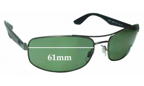 Sunglass Fix Sunglass Replacement Lenses for Ray Ban RB3527 - 61mm Wide