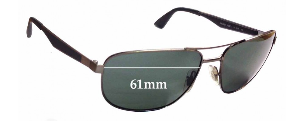 Sunglass Fix Sunglass Replacement Lenses for Ray Ban RB3528 - 61mm Wide