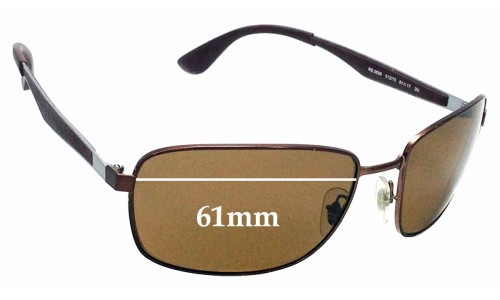 Sunglass Fix Sunglass Replacement Lenses for Ray Ban RB3529 - 61mm wide