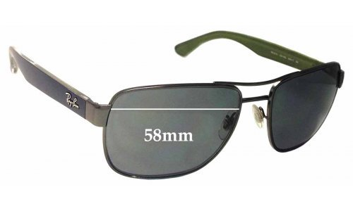 Sunglass Fix Sunglass Replacement Lenses for Ray Ban RB3530 - 58mm Wide