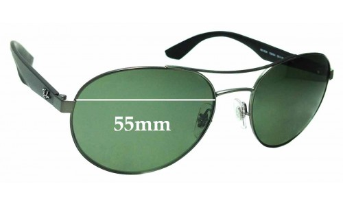 Sunglass Fix Sunglass Replacement Lenses for Ray Ban RB3536 - 55mm Wide
