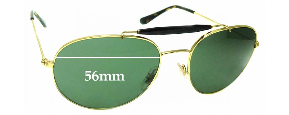 Sunglass Fix Sunglass Replacement Lenses for Ray Ban RB3540 - 56mm Wide