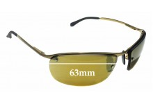 Sunglass Fix Sunglass Replacement Lenses for Ray Ban RB3542 - 63mm Wide