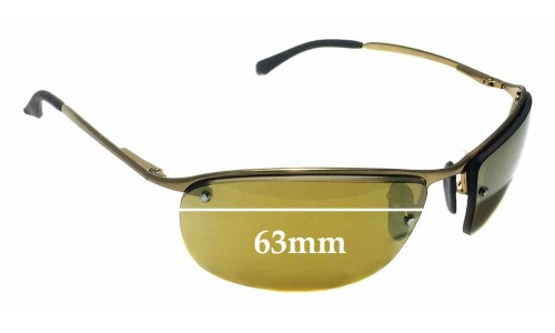 Sunglass Fix Sunglass Replacement Lenses for Ray Ban RB3542 Chromance - 63mm Wide