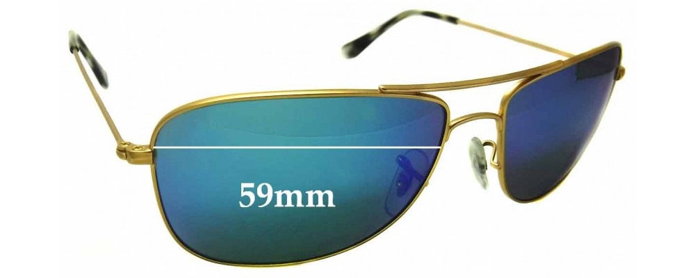 Sunglass Fix Sunglass Replacement Lenses for Ray Ban RB3543 - 59mm Wide