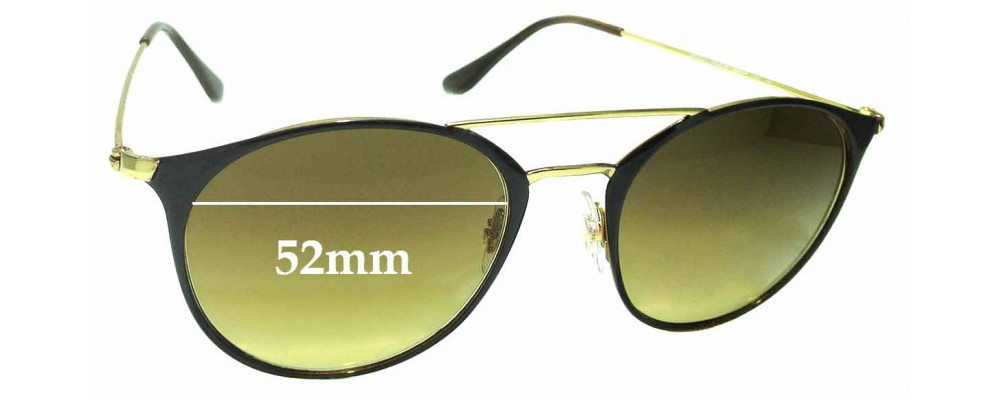 Sunglass Fix Sunglass Replacement Lenses for Ray Ban RB3546 - 52mm Wide