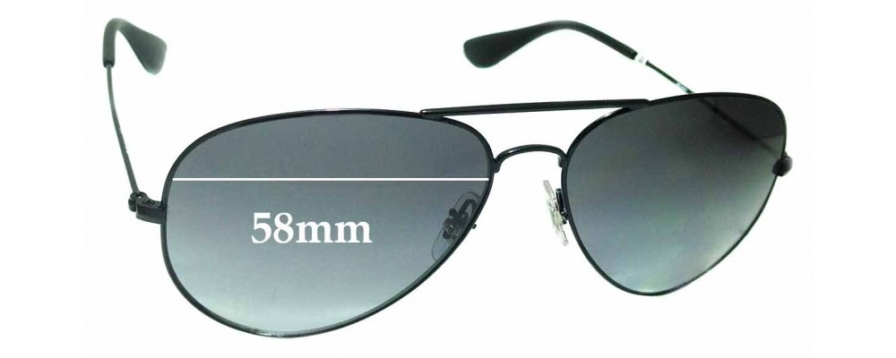 Sunglass Fix Sunglass Replacement Lenses for Ray Ban RB3558 - 58mm Wide
